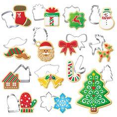 圣诞系列蛋糕曲奇糖粉筛 圣诞节主题 圣诞快乐集合 翻糖饼干模具
