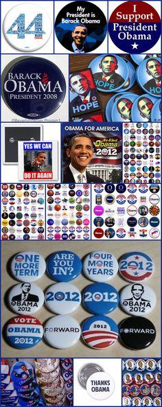 Some Of #44thPresident #BarackObama #CampaignButtons #Collection #2008 Campaign #slogan #HOPE 2012 Campaign #slogan  #YESWECAN Plenty More!!!   #BarackObama #ObamaLegacy #ObamaHistory #ObamaLibrary #PresidentialCenter #ObamaFoundation Obama.org