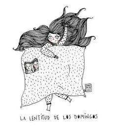 """""""La lentitud de los domingos"""" #Ilustración Sara Fratini  #FuriaMag #inspiración pic.twitter.com/y8YsmiuEuf"""