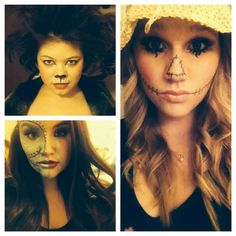 The lion, tin man, scarecrow #halloween #wizard of oz #makeup