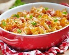 Gratin de macaronis au jambon…