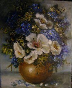 Flori de primavara cu perle