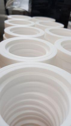 Изготовление прокладок из фторопласта для кранов танк-контейнеров и прочей запорной арматуры. #фторопласт #ф-4 #ф4 #политетрафторэтилен #ptfe Plates, Tableware, Kitchen, Home, Licence Plates, Dishes, Dinnerware, Cooking, Griddles