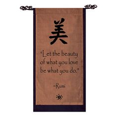 @Overstock - This scroll, placed in a special place of your home, will always be there to help put positive thoughts in your mind. The inspiring wall banner showcases a beautiful design to go with the motivating words of wisdom.http://www.overstock.com/Worldstock-Fair-Trade/Cotton-Beauty-Symbol-and-Rumi-Quote-Scroll-Indonesia/5160237/product.html?CID=214117 $31.49