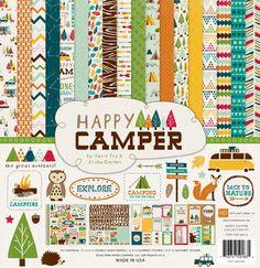 Echo Park Happy Camper Scrapbook Collection Kit by Scraputante, $15.00