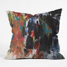 Fresh Artists Storming Throw Pillow | DENY Designs Home Accessories