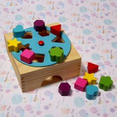 12 Vivid Color and Shapes of Wooden Blocks Position Looking Intelligent Toy $5.18