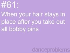 Thanks to dance! Haha the unfortunate truth :)