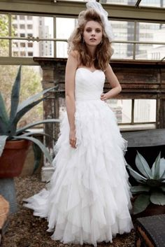 1-davids-bridal-strapless-dot-tulle-ball-gown-with-ruffle-skirt-galina-style-pk3357-size-8