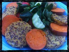 Quinoa Crusted Polenta
