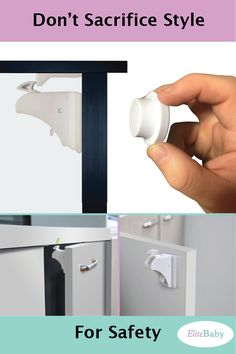 Magnetic Baby Proofing Cabinet Locks https://www.elitebaby.us/collections/all-products/products/magnetic-cabinet-locks-v2-8-pack?utm_source=Pinterest&utm_campaign=EB_ML_CAMP1&utm_medium=Social&utm_term=MagneticCabinetLocks&utm_content=CreativeOne