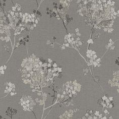Non-woven wallpaper grey white beige floral design Rasch Florentine 2017 wallpaper 449242 Wallpaper Brands Rasch Florentine
