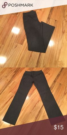 """Flat waist stretch dress pants These are a flat waist pant. Very comfortable to wear for work all day. Tags removed but they are a large. Run small. Overall length is 41"""". Inseam is 31 1/2"""". Waist laying flat one side is 14 1/2"""". Pants Trousers"""