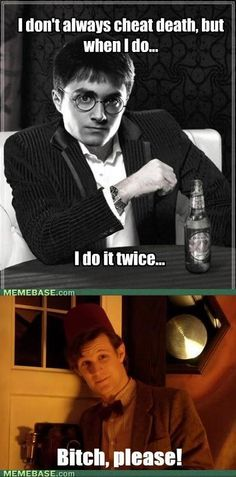 I like Harry and all, but he's got NOTHING on The Doctor.