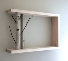 shelf with branches