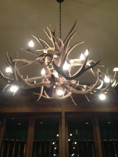 Antler Chandelier in Cabela's... I want one in my house soooo bad!!