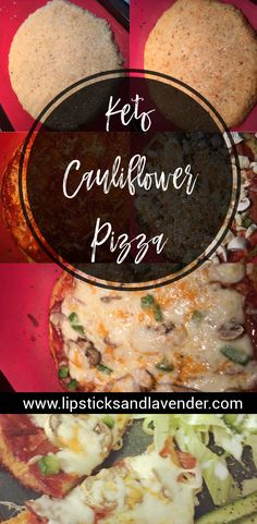 Easy Low Carb Keto Cauliflower Pizza Crust for quick Ketogenic Meals. Easy Keto Dinner Recipes // Gluten Free Pizza // Low Carb Weight Loss Recipes Easy Low Carb Keto Cauliflower Pizza Crust for quick Ketogenic Ketogenic Recipes, Keto Recipes, Healthy Recipes, Atkins Recipes, Quick Recipes, Low Carb Dinner Recipes, Keto Dinner, Cauliflower Crust Pizza, Low Carb Breakfast