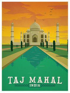 Image of Vintage Taj Mahal Print