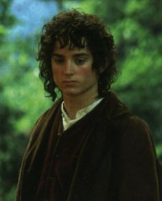 It's sad, Frodo looks dead inside because of the power of the Ring. He's so burdened in this picture.