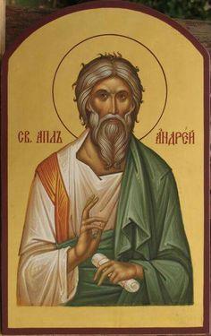 Андрей ап. Byzantine Icons, Byzantine Art, Roman Church, Best Icons, Orthodox Christianity, Orthodox Icons, Saints, Spirituality, Painting