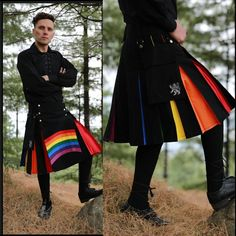 Tuesdays are for fresh starts😊😊 Never fails to attract attention with our 🌈 Rainbow Kilt For Stylish Man #scottishkiltshop #scottishkilt #kilt #kiltshop #kiltsformen #scottish #mensfashion #malestyle #kiltedmen #rainbowkilt Scottish Hat, Scottish Kilts, Tartan Material, Tartan Fabric, Tartan Kilt, Tartan Scarf, Kilt Shop, Leather Kilt, Utility Kilt