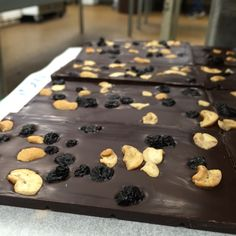 Blue Suede Shews! 72% dark chocolate with blue berries and cashews