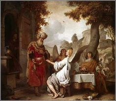 Abraham and the Three Angels by Gerbrand van den Eeckhout, ca. 1656.