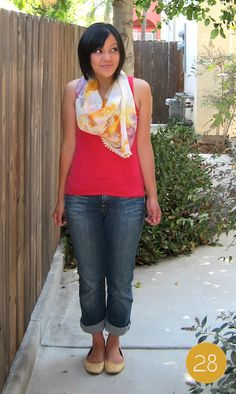 Cute way to dress up a tank top & jeans