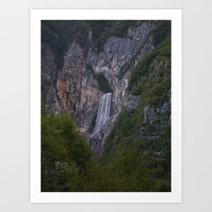 waterfall, Summer, Alps, forest, trees, green, Italy, sunlight