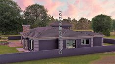 4 Bedroom House Plan – My Building Plans South Africa Round House Plans, My House Plans, House Floor Plans, My Building, Building Plans, House Plans South Africa, 5 Bedroom House Plans, House Construction Plan, Home Design Floor Plans