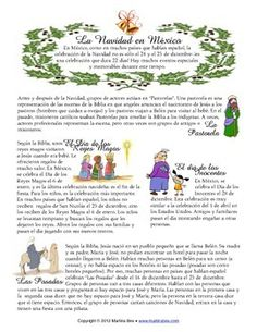 Navidad en México - Christmas traditions in Spanish Teach Me Spanish, Ap Spanish, Spanish Culture, Spanish Teacher, Spanish Classroom, Learning Spanish, Spanish Christmas, Spanish Holidays, Mexican Christmas Traditions
