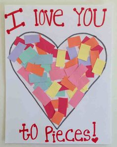 Over 21 simple valentine's day crafts for toddlers and kids to make - adorable and easy Preschool Valentine Crafts, Kinder Valentines, Valentines Bricolage, Daycare Crafts, Valentines Day Activities, Classroom Crafts, Baby Crafts, Valentines Art For Kids, Valentines Crafts For Preschoolers