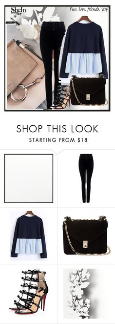 """""""dgfffg"""" by bezee-cdxix ❤ liked on Polyvore featuring By Lassen, Citizens of Humanity, Valentino, Christian Louboutin, Élitis and Bobbi Brown Cosmetics"""