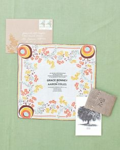 Vintage Handkerchief Invitations - something different