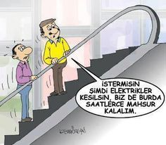 İster Misin Şimdi Elektirikler Gitsin - Karikatür | Komik Karikatürler 2013 | Komik Resimler