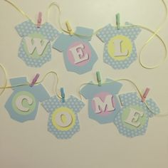nippie's DIY「WELCOME BABY」ガーランド♩|nippieのブログ |Ameba (アメーバ)