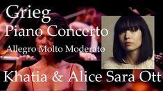 Khatia Buniatishvili & Alice Sara Ott Grieg Piano Concerto - YouTube