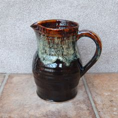 Jug or pitcher hand thrown in stoneware handmade by CaractacusPots