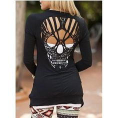 Skull Hollow Out Women Sweater jacketwww.wearethebikerstore.com | Bikers, Motorcycle, Men, Women, Fashion, Goth, Home Decor, Skull, Leather.