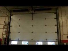 a new commercial garage door we installed in westmont,il * super quiet*