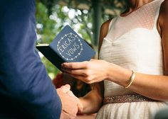 Little book of vows...now that's an idea, instead of holding a piece of paper or memorizing them.
