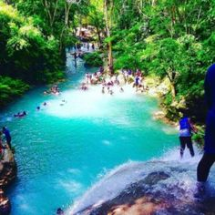 Blue Hole Jamaica is the place to spend time with your family and friends.