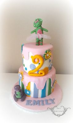 Barney Themed cake