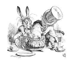 Mad Hatter and the March Hare stock illustration 33014464 - iStock