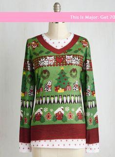 Deck the Paws Top   Mod Retro Vintage Sweaters   ModCloth.com