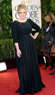 Adele in Burberry at the Golden Globe Awards 2013 #RedCarpet #GoldenGlobes