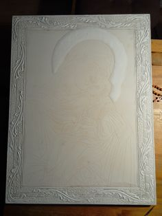 Virgin Mary, Byzantine, Portrait Art, Projects To Try, Carving, Drawings, Gold, Leather, Inspiration
