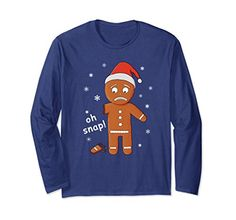 Unisex Oh Snap Gingerbread Funny Christmas Pun Long Sleeve T-Shirts gifts
