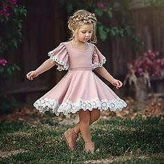 Buy Fashion Kids Baby Girl Dress Lace Floral Party Dress Pageant Bridesmaid Dress at Wish - Shopping Made Fun Pink Flower Girl Dresses, Little Girl Dresses, Lace Flower Girls, Easter Dresses For Girls, Dresses For Toddlers, Girls Holiday Dresses, Toddler Girl Dresses, Little Girls, Lace Party Dresses