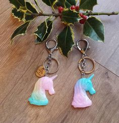 Everyone knows at least one mystical, magical unicorn. Each keychain includes a 30mm lobster clasp, key ring and a 20mm chain. The glittery resin unicorn of your choice is attached to the end of the chain and comes with an optional Im really a unicorn charm. Choose from a pink, yellow & blue or a blue, purple & pink unicorn.  Colours may vary slightly due to differences in screens and monitors. Pink Yellow, Purple, Blue, Unicorn Gifts, Magical Unicorn, Stocking Fillers, Rainbow Unicorn, Lobster Clasp, Key Rings